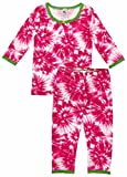 Esme Girl's Sleepwear 3/4 Long Sleeve Top Leggings Set-8 Fuchsia Burst
