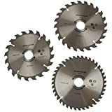 3pc 184mm TCT circular saw blades 20 / 24 and 40 teeth 30mm Bore Reducers TE663 by A B Tools