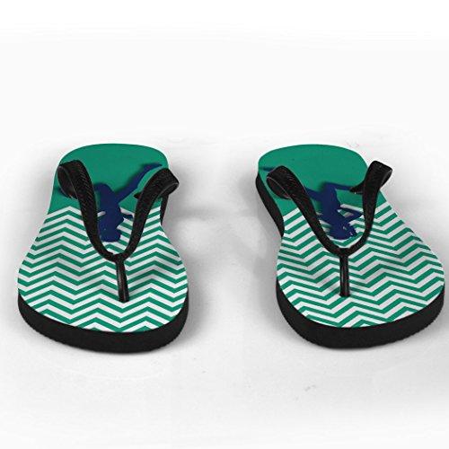 Course Flip Flops Coureur Fille Chevron Seafoam