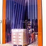 Steel Guard Safety PVC Strip Curtain Door - PVC Strip Door Kit - H- 10' x W- 12' - 12'' Strips, 66% Overlap -Steel Guard Safety