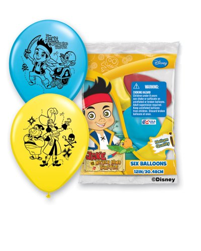 Pirate Costume Party Ideas (Pioneer National Latex Jake and The Never Land Pirates 6 Count 12