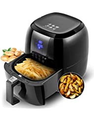 Sinoartizan Air Fryer Deep Fryer Oven Electric Airfryer 4.2 Quart 1400 Watt Oil Free Electirc Hot Air Fryer Deep Fryer Electric Oven With Basket And Cookbooks For Home Kitchen