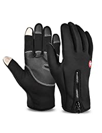 Vbiger Winter Warm Touch Screen Gloves Cold Weather Cycling Gloves for Men Women