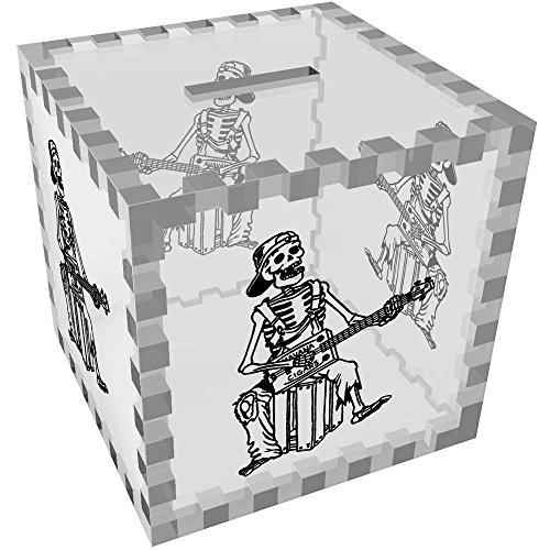 Azeeda 'Box Guitar Skeleton' Clear Money Box / Piggy Bank -