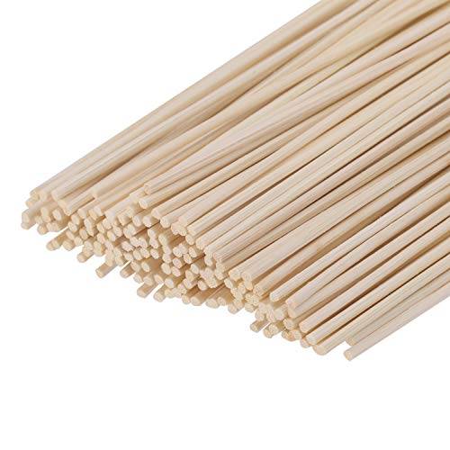 (Senkary 150 Pieces Reed Diffuser Sticks Wood Rattan Reed Sticks Fragrance Essential Oil Aroma Diffuser Sticks, 24 cm/ 9.45 inches)