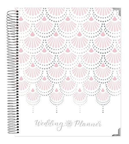 "Undated Wedding Calendar Planner & Organizer/Hardcover Keepsake Journal with Essential Planning Tools - Checklists, Vision Boards, Tips and More - 9"" x 11"" - Silver Foil"