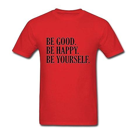 wulagui Hombres de ser bueno Be Happy Be Yourself camiseta de manga corta: Amazon.es: Ropa y accesorios