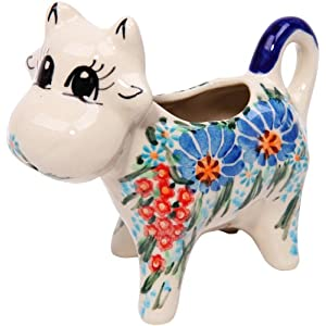Polish Pottery Ceramika Boleslawiec 0501/169 Creamer Cow, 1/3 Cup