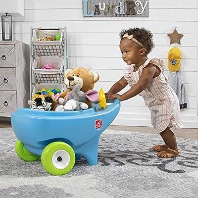 Step2 Springtime Wheelbarrow   Toddler Role Play Garden Toy, Blue (400600): Toys & Games