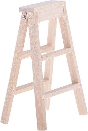 Amazon.es: 1:12 Miniaturas Modelo de Escalera de Madera Plegable Accesorio Decorativo de Dollhouse: Juguetes y juegos