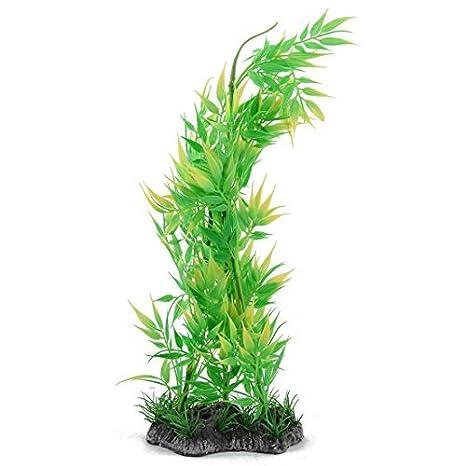 DealMux plástico estanque de peces de acuario artificiales ornamentales de agua de bambú decoración vegetal: Amazon.es: Productos para mascotas