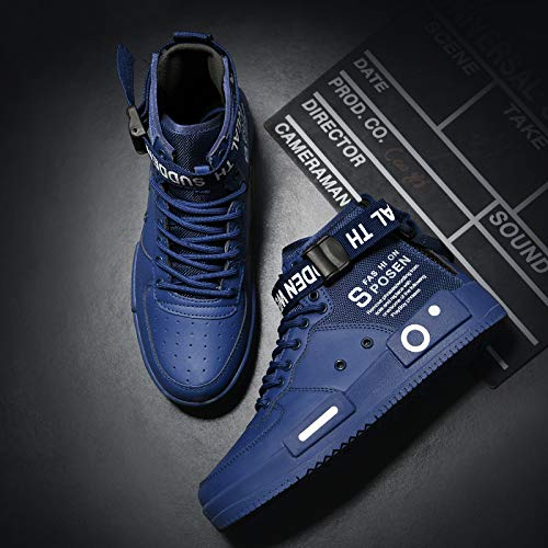 Ahico Mens Fashion Sneakers High Top Walking Shoes Sport Athletic Casual Shoe Vogue Stylish Men