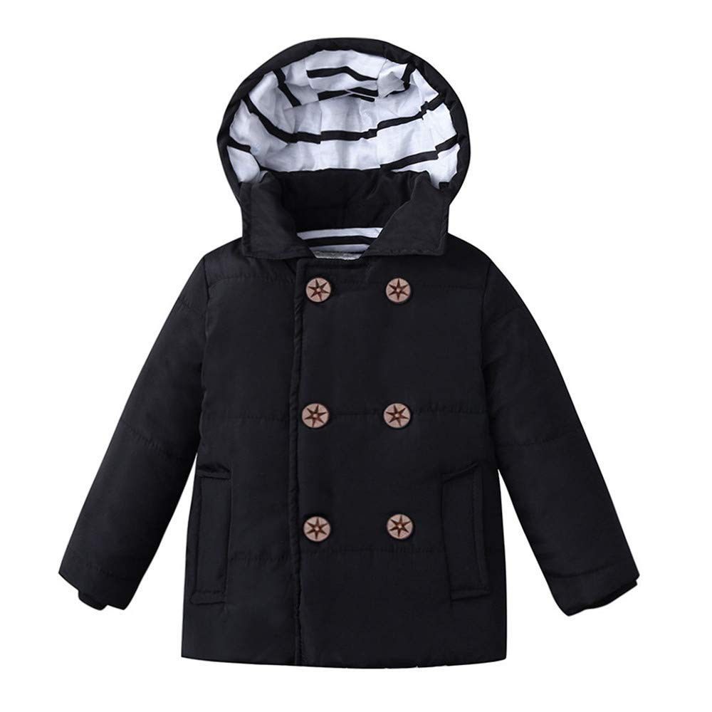 Holywin Winter Kid Baby Boy Girl Hooded Jacket Chidren Warm Thick Coat Outerwear Clothes