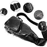 Men's Leather Sling Bag,Chest Shoulder