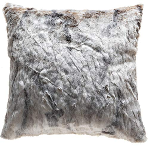 TINA'S HOME Cozy and Warm Brindle Faux Fur Euro Sham Cover for Bed Decor, 26X26 (Faux Fur Euro Sham)