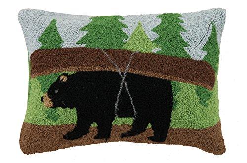 Peking Handicraft Canoe Bear Hook Pillow, 14x20