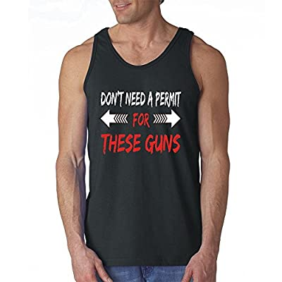 Fresh Tees-I Don't Need Permits For These Guns Funny Mens Tank Tops Workout Tank Tops