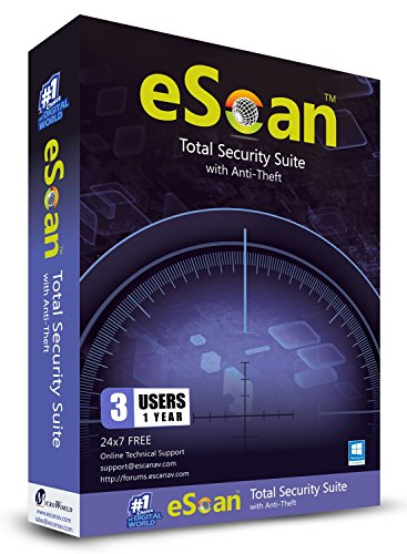 eScan Total Security Suite with Cloud Security Web Security Improves system performance Prevents USB infection | 3…