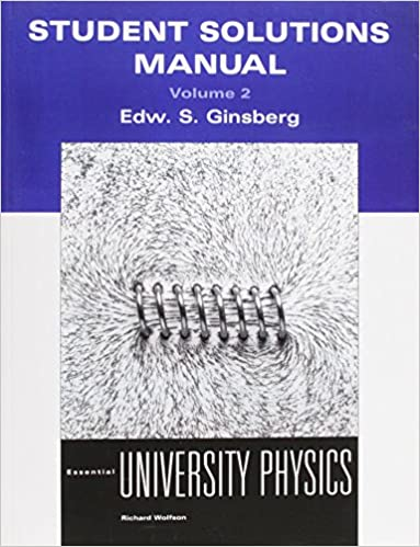 Amazon student solutions manual volume 2 for essential student solutions manual volume 2 for essential university physics 1st edition fandeluxe Image collections