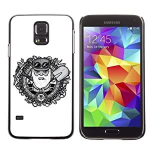Licase Hard Protective Case Skin Cover for Samsung Galaxy S5 - Cool Oldschool Miner