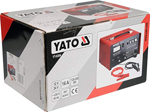 cargador de bater/ía de 12 24v 25a YATO YT-8304