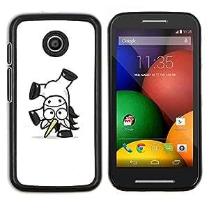 Stuss Case / Funda Carcasa protectora - Feliz Unicornio - Motorola Moto E