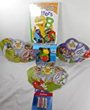 Funny Turtle Toy (G), Three (3) Pretty Petal Books, 123 Sesame Street Learning About Letters DVD, 1 8-pack AAA Batteries Bundle
