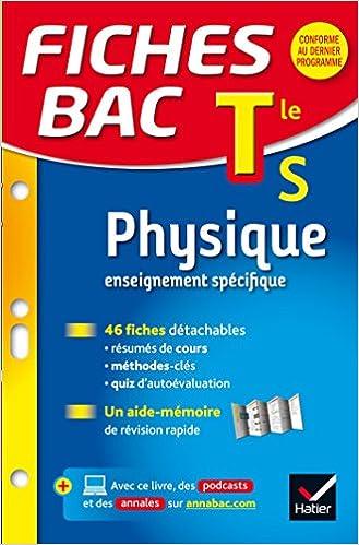Fiches bac Physique Tle S enseignement spécifique : fiches de révision - Terminale S: Amazon.es: Dominique N. Meneret: Libros en idiomas extranjeros