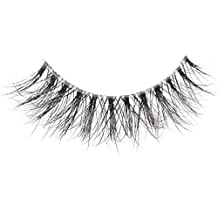 Arimika Handmade 3D Mink Fake Eyelashes -Reusable With Clear Invisible Flexible Band, Lightweight Fluffy Natural Look,Cruelty Free