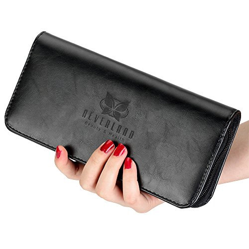 Price comparison product image Neverland Beauty 1pc Hair Scissors Bag Leather Barber Salon Cases for hair scissors Hairdresser Accessories Shears Handbag Holder Styling Tools Storage Case (Black)