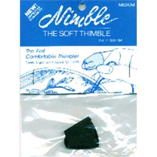 Nimble Thimble Nom080453 Leather Nimble Thimble With Metal Tip, Medium (Nimble Thimble)