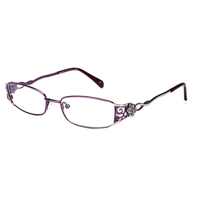 Rafbenson Full Frame Metal Alloy Stainless Steel Reading Glasses Women With Case