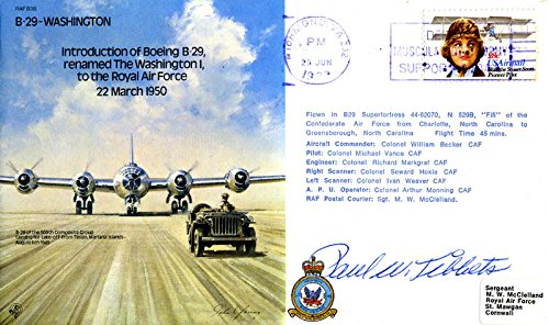 Enola Gay Crew (Paul W. Tibbets) Commemorative Envelope Signed
