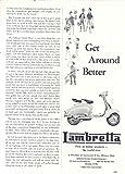 1961 Lambretta Motor Scooter Ad Focel Vega