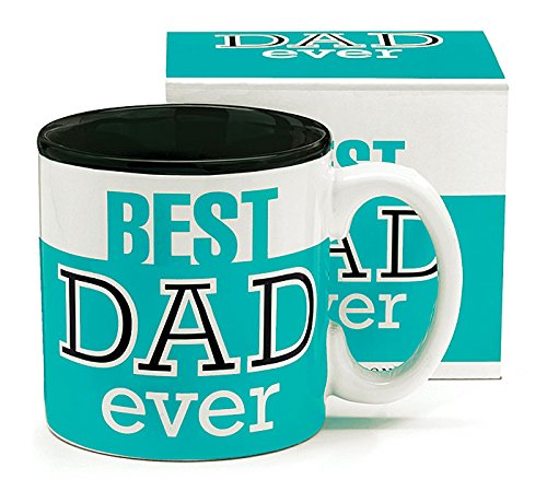Best Dad Ever 13Oz Coffee Mug Great for Father's Day or Birthday (1, Green)