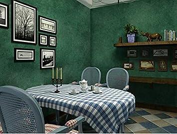 Retro Alt Dunkelgrun Plain Reine Farbe Tapete Schlafzimmer
