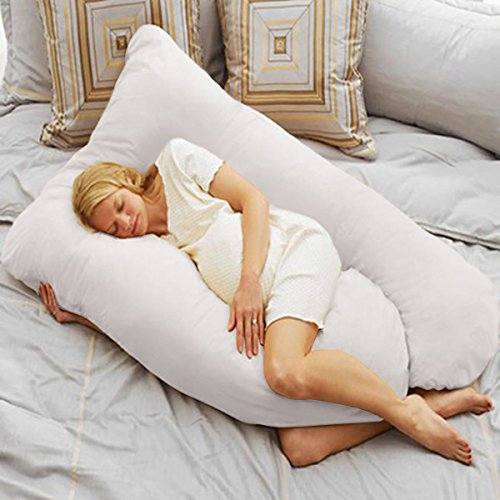 U Shape Total Body Pillow Pregnancy Maternity Comfort Support Cushion Sleep (Ez Store Die Sheets)