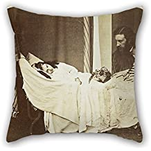 Throw Cushion Covers Of Oil Painting Rev. Charles Lutwidge Dodgson, 'Lewis Carroll' - 'Mary J. MacDonald Dreaming Of Her Father (George MacDonald) And Brother Ronald' For Dining Room Pub Home Thea