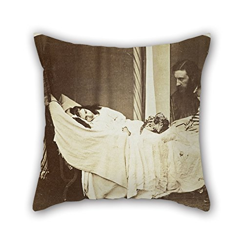 Throw Pillow Covers 16 X 16 Inches / 40 By 40 Cm(2 Sides) Nice Choice For Seat Divan Saloon Kids Girls Wedding Birthday Oil Painting Rev. Charles Lutwidge Dodgson, 'Lewis Carroll' - 'Mary J. MacDon