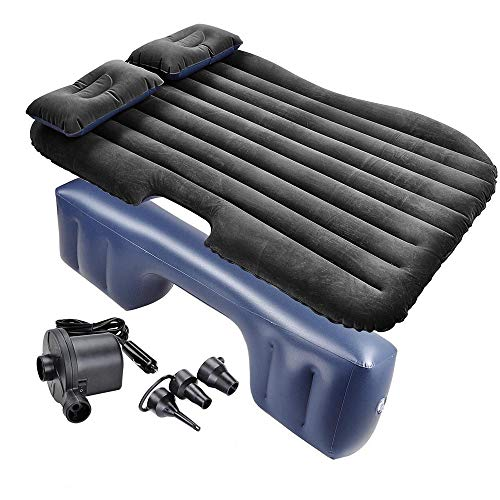 Facaimo Car air Bed, Thickened Car Bed Inflatablecar air Mattress Portable Mattress SUV air Mattress, Flocking Surface, Fast ()