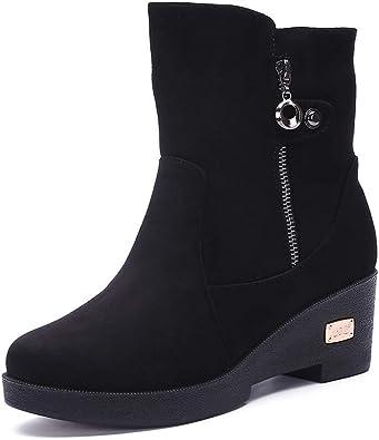 Gaatpot Chaussures Bottes Hiver De Neige Femmes avec Chaud Fourrure Doublure Antidérapage Talons Bottine 35 41EU