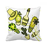 DIYthinker Sombrero Mexico Desert Cactus Mexican Square Throw Pillow Insert Cushion Cover Home Sofa Decor Gift