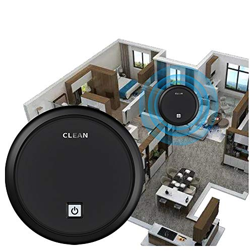 Smart Home Robot Vacuum Automatic Navigating Sweeping Robot Intelligent Household Floor Vacuum Mopping Robot Multi-Function Robotic Vacuums (Black)