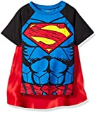Warner Brothers Little Boys' Toddler Superman Cape T-Shirt Set, Blue, 5T