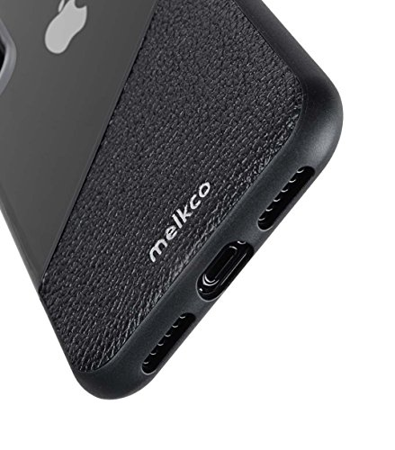 Melkco Kubalt Edelman Series Layer Apple iPhone X Support Wireless Charging Rugged Case, Shock Protection, Raised Bevel, Edge Protection, Military Grade Case - Black by Melkco (Image #2)