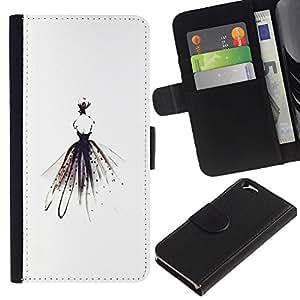 iBinBang / Flip Funda de Cuero Case Cover - Bailarín de la bailarina minimalistas Alas señora Fashion - Apple Iphone 6 4.7