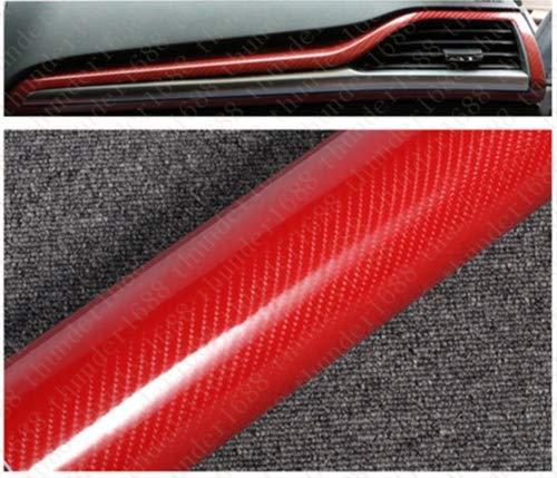 "24/""x60/"" 5D Ultra Shiny Gloss Glossy Black Carbon Fiber Vinyl Wrap Sticker Decal"