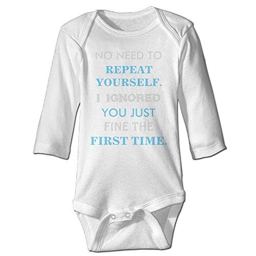 Richard Unisex Toddler Bodysuits Funny repeat Yourself Boys Babysuit Long Sleeve Jumpsuit Sunsuit Outfit 12 Months - For A Nerd Be How To Halloween