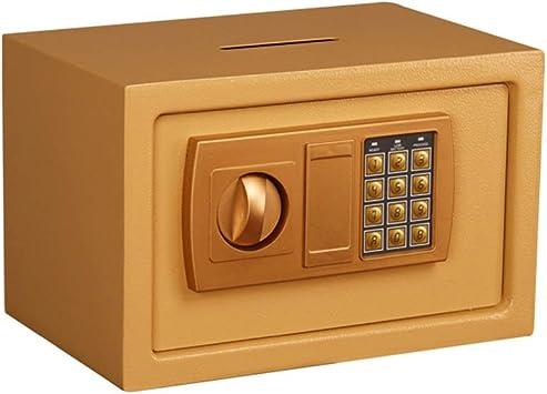 Caja de Seguridad, Teclado Digital Seguridad Interna Acero Incorporado Alarma Instalación en la Pared Caja Fuerte dorada31 * 20 * 20cm Caja de Almacenamiento: Amazon.es: Electrónica