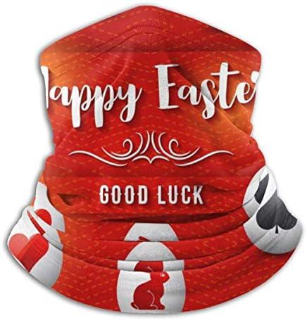 Happy Easter Good Luck ネックカバー 男女兼用 バンダナ アウトドア フェイスガード 多機能 スポーツ ターバン